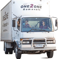 One2one removals truck